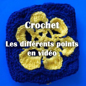 crochet diy tuto points video