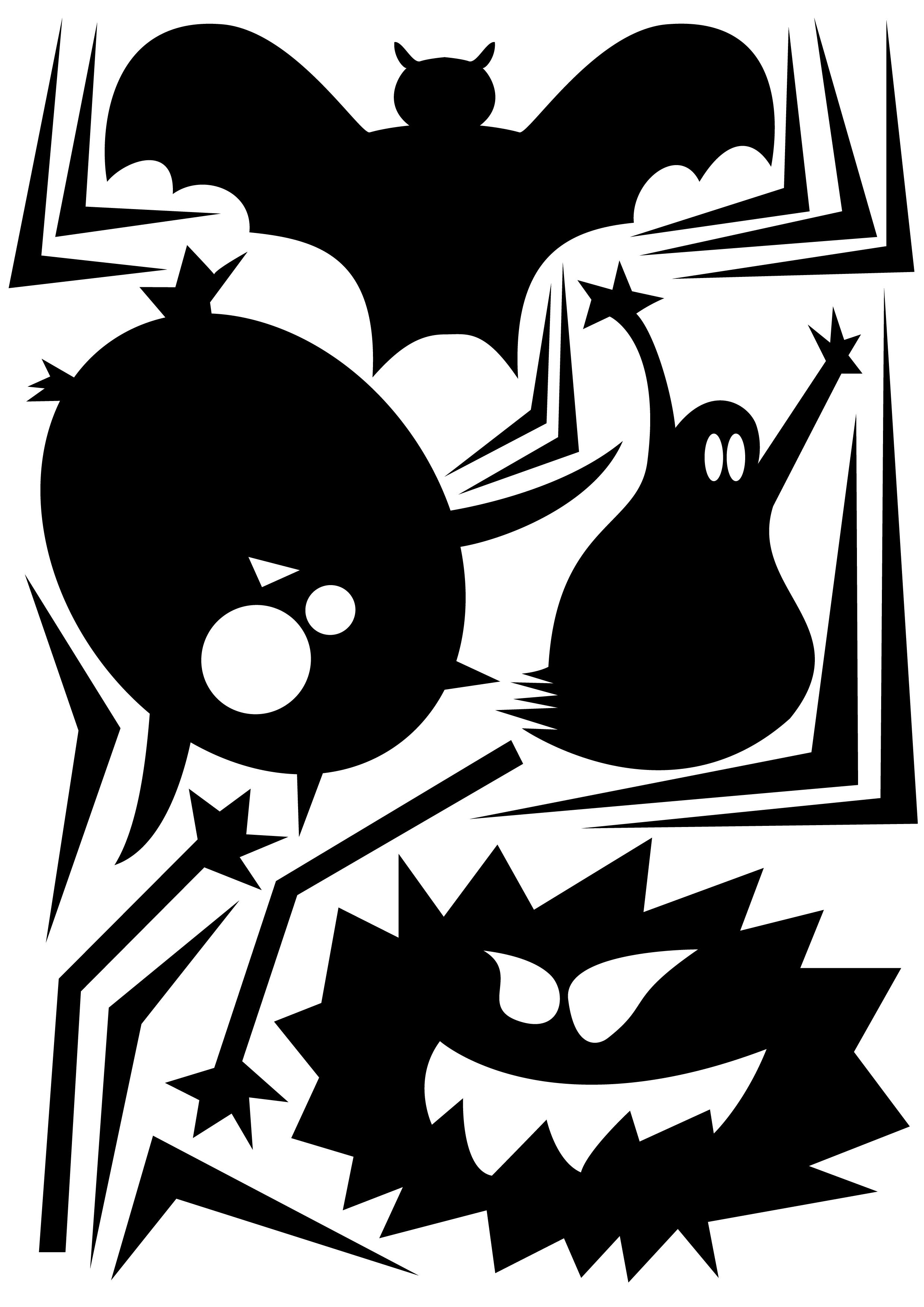 atelier creatif enfant decoupage halloween deco activite creative
